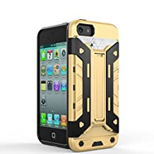 IPhone5s SE Case,2 In 1 New Armour Tough Style Hybrid Dual Layer Armor Defender PC Hard Cases With Stand [Shockproof Case] For IPhone 5s SE ( Color : Brass-Iphone5s Se )