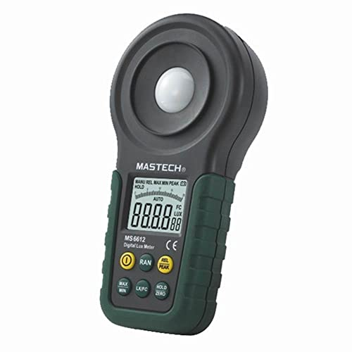 Mastech MS6612 Multi Function Luxmeter Light Meter Foot Candle Auto Range Peak