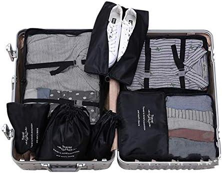 旅行用収納袋 8個セット荷物オーガナイザー防水服収納袋キューブ旅行オーガナイザー荷物圧縮ポーチ ハンドロールアップ再利用可能な服 (色 : 緑, Size : Free size)