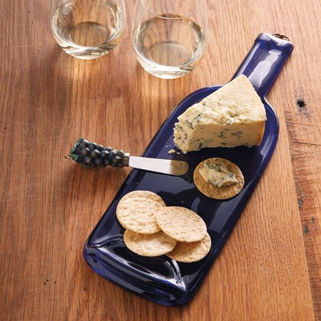 Wine Bottle Cheese Tray - 1