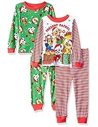 Nickelodeon - Juego de Pijama de algodón para niños de la Patrulla Canina (4 Piezas)