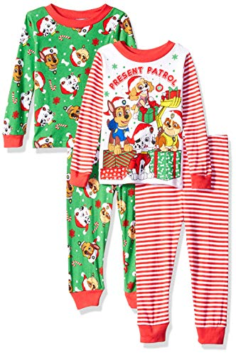 5df1e519f9 Nickelodeon Boys  Toddler Paw Patrol Holiday 4-Piece Cotton Pajama Set