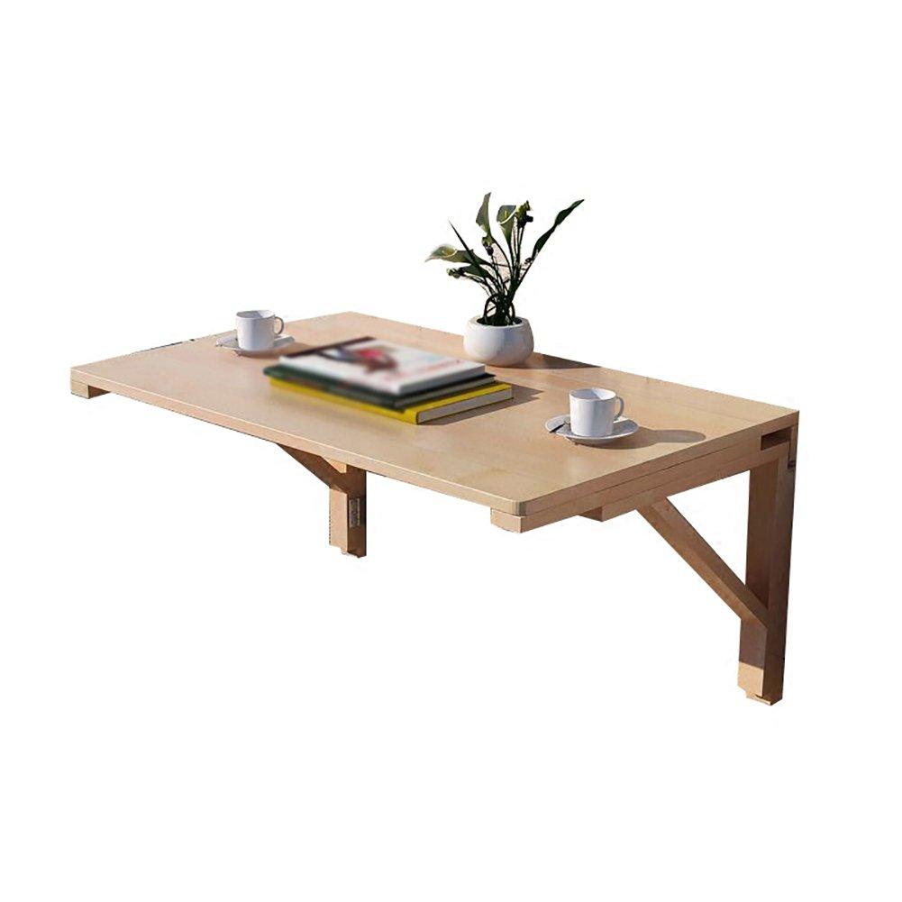 折り畳みテーブル& ソリッドウッド折りたたみテーブル、壁に取り付けられたテーブル壁のテーブル折り畳むことのできるベッドルーム、壁、穴の開いたフレーム (サイズ さいず : 80*60cm) B07F19N6JS 80*60cm 80*60cm