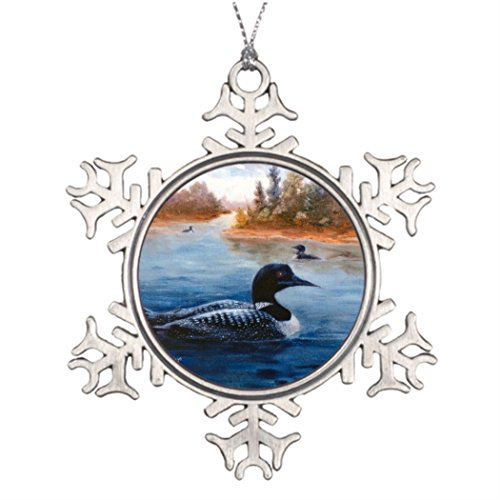 Tree Branch Decoration Loon Christmas Personalized Snowflake Ornaments Blue