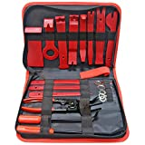 Ewolee Auto Trim Removal Tool Kit, 19 Pcs Car Dash Audio Radio Door Panel Upholstery Removal Tool Set, Auto Body Repair Tools Fastener Removers and Clip Pliers Included