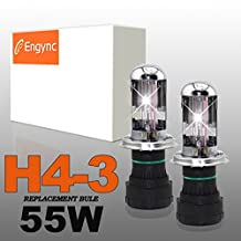 Engync® 55W H4 (HB2) (9003) Bi-Xenon Xenon HID Replacement Bulbs | HID Xenon Headlight Bulb Hi/Low 6000K Diamond White Color| 3 Years Warranty
