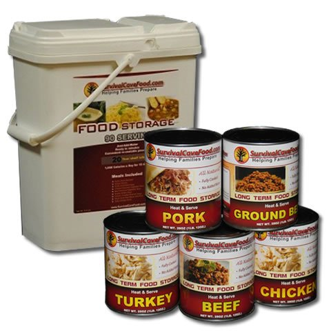 10 Day Survival Cave Food Combo with Freeze Dried Food and Canned Meat Variety by Survival Cave