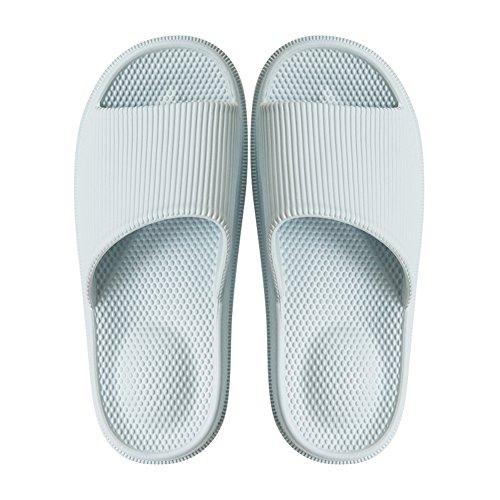 TELLW Bathroom Slippers for Male Female Summer Home Indoor Anti-Slip Thick Bottom Cool Slippers Women Blue tGZ6l23