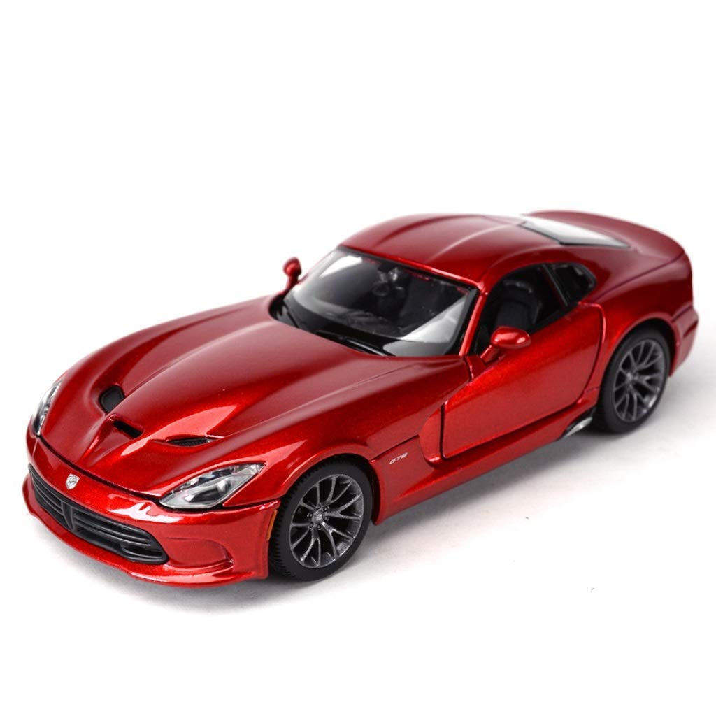 KaKaDz Wei Sports Model Model Simulation Ratio 1 24 Dodge V Snake Muscle Car Collezione Souvenir Decorazione Regalo ( Colore   rosso )