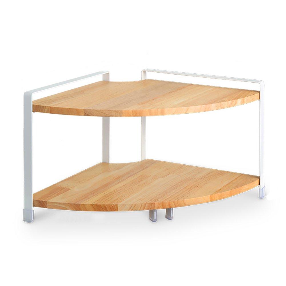 Storage rack Solid Wood Spice Rack Kitchen Storage Shelf Multilayer Flooring Supplies (Size : B)