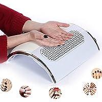 MS.DEAR - Ventilador de ventosa para polvo de uñas, con 2 bolsas de recogida de polvo, 3 ventiladores, potente aspirador de uñas, herramientas de manicura