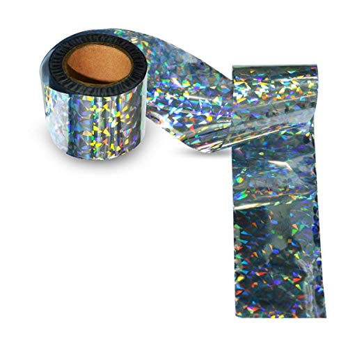 100-Foot by 2-Inch Holographic Bird Scare Ribbon, Double Sid