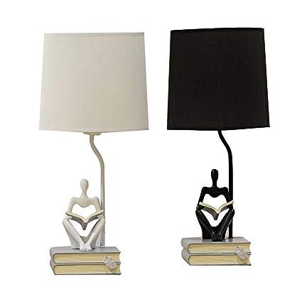 Lámpara de mesa de madera hecha a mano, lámpara de mesita de ...