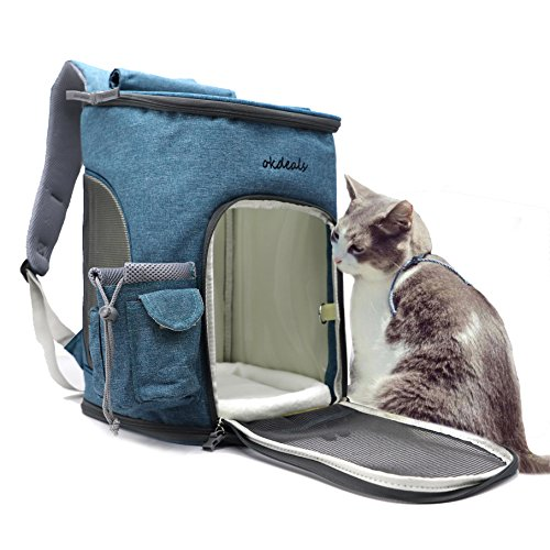 Soft Sided Pet Carrier Backpack For Small Dogs And Cats Airline Approved  Designed For Travel  Hiking  Walking   Outdoor Use Blue