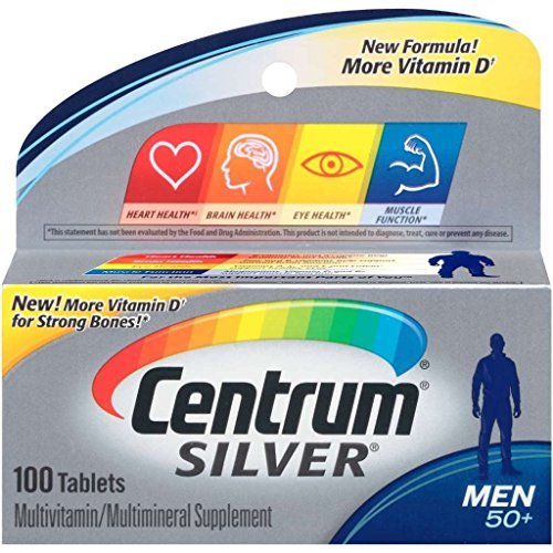 PFIZER Centrum Silver Men's 50+ Tablets 100 Tablets by Ce...