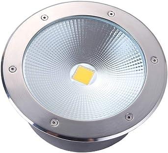 Foco De Suelo LED Exteriores, Lámpara De Tierra Redonda Impermeable Para Jardín, Luz Subterránea Integrada Foco Cuadrado Para Jardín [Energy Class A +] (Color : White-20w): Amazon.es: Iluminación