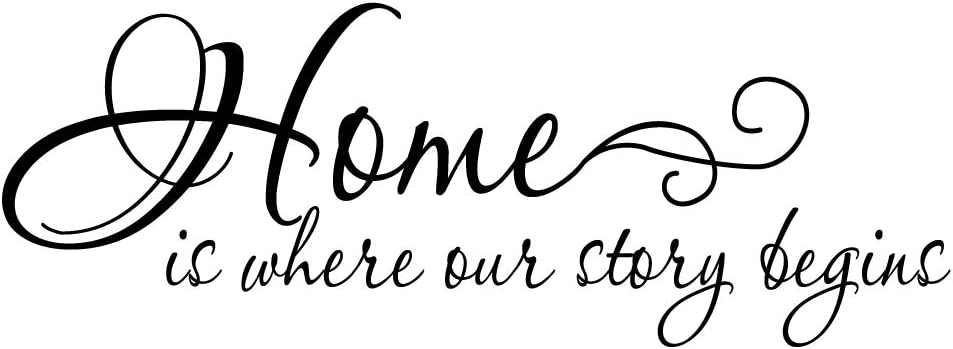 ZSSZ Home is Where Our Story Begins Vinyl Wall Decal Quotes Art Letters Motto Home Decoration Lettering