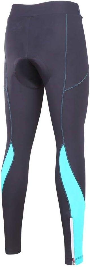 Longues Pantalons V/élo Respirant Legging de Sport Elastique 3D Gel Rembourr/é Antid/érapant S/échage Rapide pour Femme SouFace Pantalons Cyclisme Femme