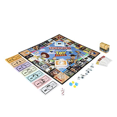 513XEXEHHbL - Monopoly Toy Story Board Game Family and Kids Ages 8+