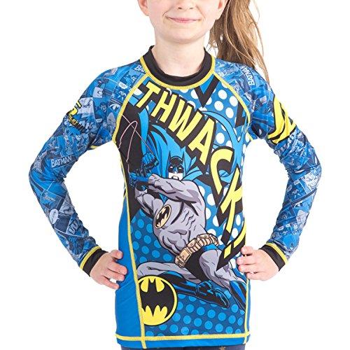 Fusion Batman Thwack Kids Compression Shirt Rash Guard- Long Sleeve (M) by Fusion Fight Gear