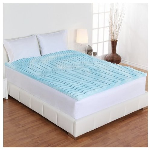 Dream Form 2-inch Orthopedic 5-zone Gel Foam Mattress Topper (Queen) ()