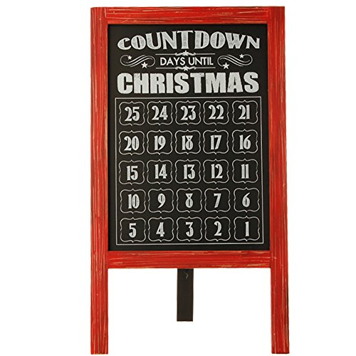 28-inch Standing Chalkboard Easel Count Down Advent Christmas Calendar