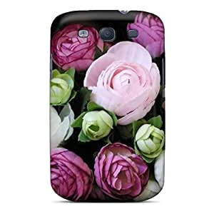 New Premium Flip Case Cover Flowers Skin Case For Galaxy S3