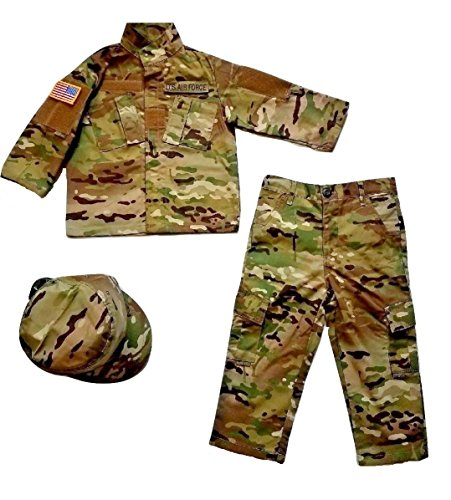 Kids U.S. Air Force Multicam Camo Pattern 5pc Uniform Set (Small) Air Force Battle Uniform