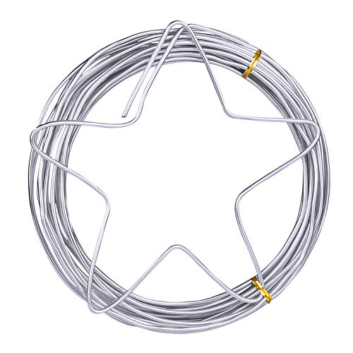 Metal Craft Wire 3mm Diameter (9 Gauge), 10 M (32.8 feet), Bendable and Flexible Floral Armature Wire for DIY Arts and Craft Projects by STARVAST ()