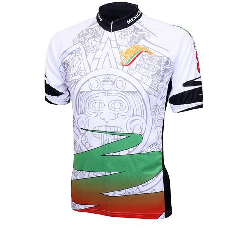188ab6b2e Amazon.com   World Jerseys Men s Mexico Aztec Cycling Jersey ...