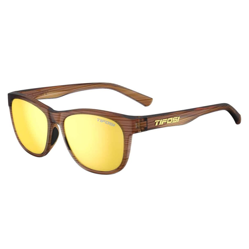 Woodgrain Smoke Yellow Tifosi Swank Sunglasses