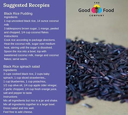 The Good Food Company Sticky Black Rice, Aromatic, Vegan, Superfood, High protein, High fibre, Antioxidant rich, Unpolished, Gluten free, Weight loss,