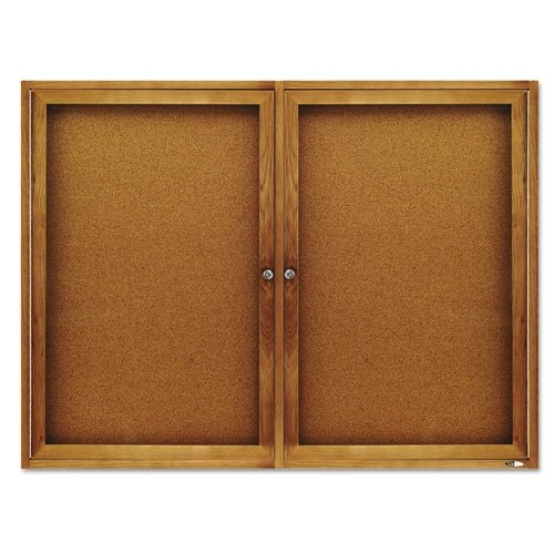 Quartet Enclosed Indoor Cork Bulletin Board with Hinged Doors by Quartet
