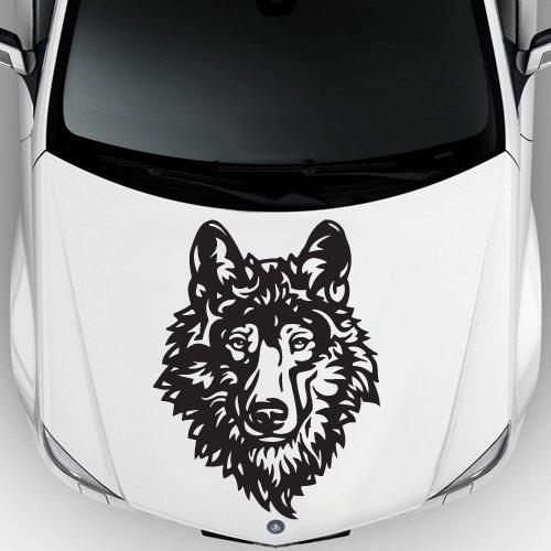 Car Decal Hood Sticker Wall Art Graphics Paint Auto Truck Design Wolf Predator Animal Head (M1194)