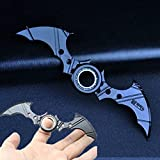 Fidget Spinner Bat Batman Flying Toy Cube Focus Toy Premium Quality EDC Hybrid Hand Spinner (Black Color)