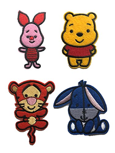 Embroidered Iron/sew on Patch Cloth Applique Collectible Disney Patches (Pooh-Set)