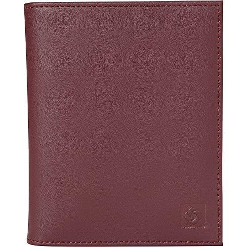 (Samsonite Leather Passport Case (Sangria))