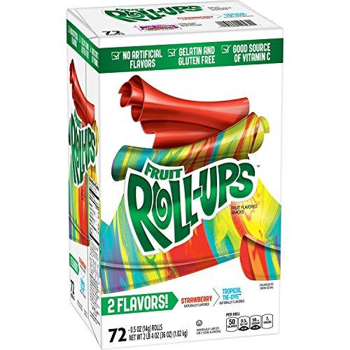 Fruit Rollups - Betty Crocker Strawberry & Tropical Tie-Dye Fruit Roll-Ups, 36 oz