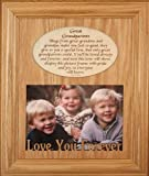 8x10 GREAT GRANDPARENTS Laser Photo & Poetry Frame ~ Holds a Landscape 5x7 Picture