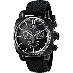 Ritmo Mundo Men's 2221/5 Black Racer Analog Display Swiss Quartz Black Watch