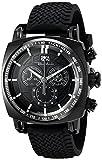 Ritmo Mundo 2221/5 Black Racer Display analógico reloj cuarzo suizo negro