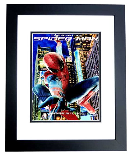 Andrew Garfield Signed - Autographed SPIDER-MAN 10x15 Photo BLACK CUSTOM Frame - Guaranteed to pass PSA or JSA -