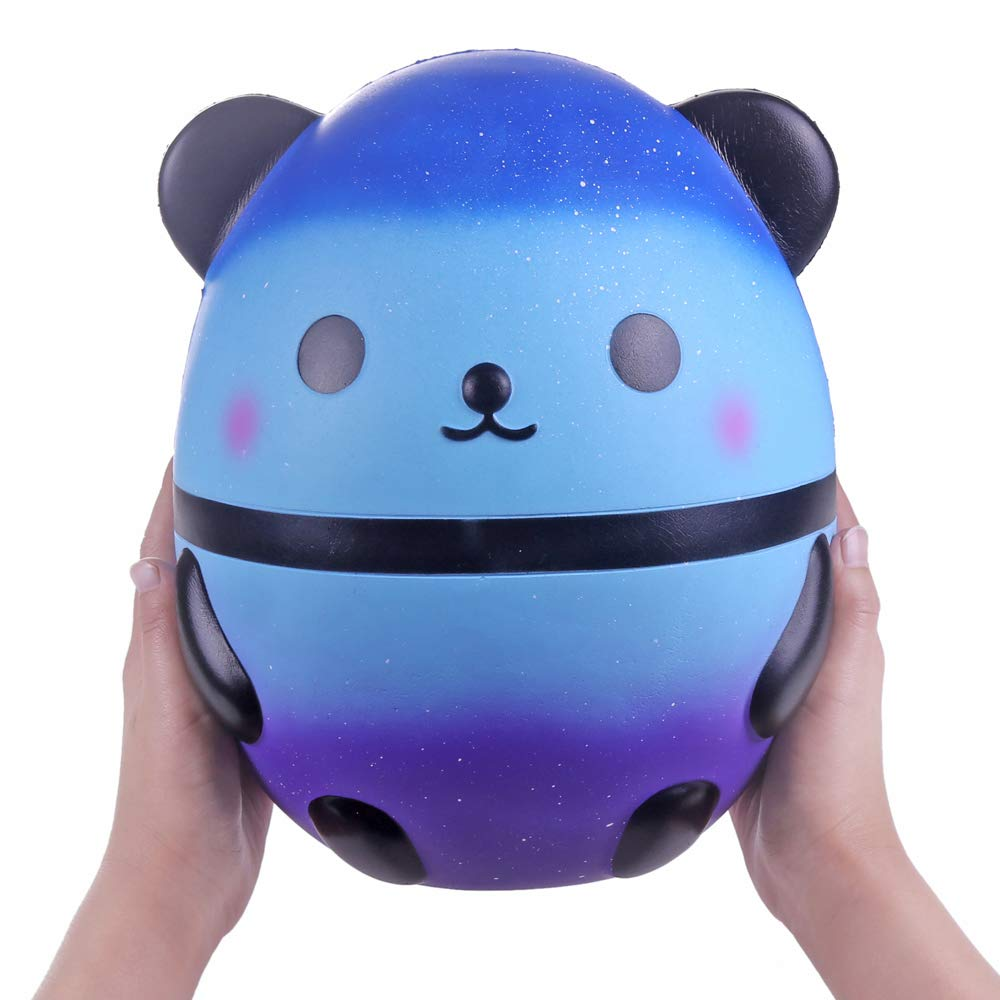 Anboor 7.9'' Squishies Jumbo Galaxy Panda Egg Slow Rising Scented Kawaii Big Giant Squishies Animal Toy for Collection 1 Pcs