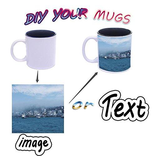Custom Coffee Mugs ADD YOUR NAME TEXT IMAGE Ceramic Cups Monogram Novelty Mug