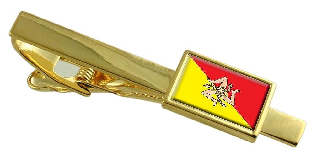 Select Gifts Región Sicilia Italia Bandera Clip de Corbata de Oro ...