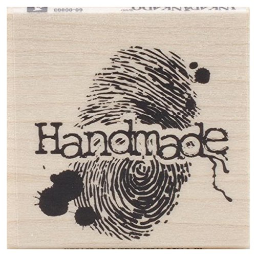 1.75 L x 1.75 W Inkadinkado Handmade Fingerprint Wood Stamp