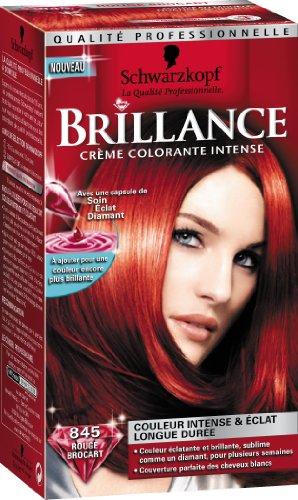 schwarzkopf brillance coloration permanente rouge brocart 845 amazonfr hygine et soins du corps - Coloration Rouge Permanente
