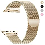 yamen Compatible for Apple Watch Band 38mm 40mm Women Milanese Loop for iwatch Band Series 2 3 4 Gold