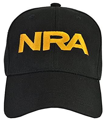 NRA Black Hat Yellow Embroidered,One Size by Incrediblegifts