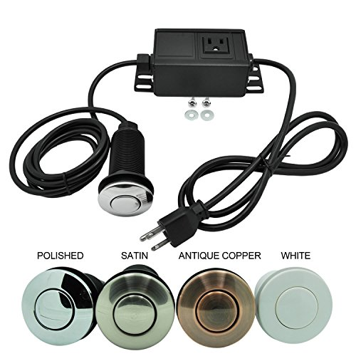 Sink Top Air Switch Kit, Garbage Disposal Part Built-Out Adapter Switch (POLISHED) by Cleesink